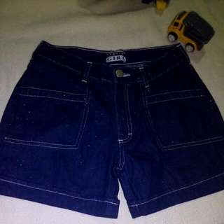 Glittery Denim Shorts