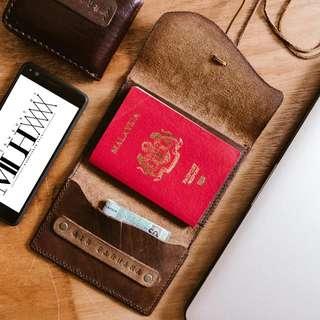 100% handmade leather Passport holder
