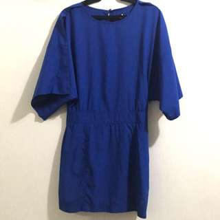 Memo Blue Office Dress