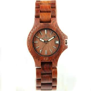 Redear Copenhagen Series Red Sandalwood Wood Wooden Watch
