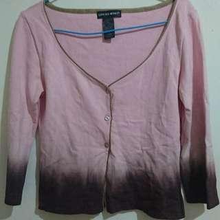 Italy女裝粉紅色針織外套