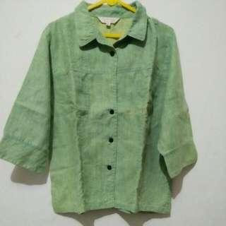 Green Denim Shirt