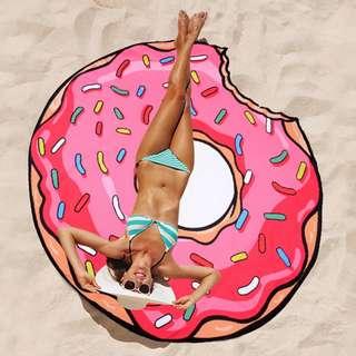 ♡minibox♡甜甜圈大海灘巾