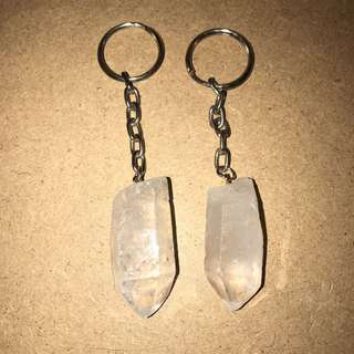 Quartz Crystal Key Chains