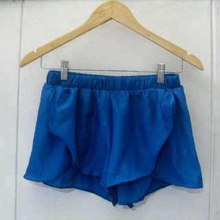 Blue Overlap Shorts / Coverup