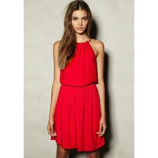 Zara Red Halter Dress