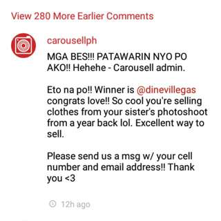 Promo Winner Thank you Carousell!!
