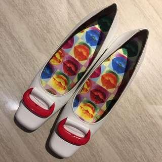 Andre Valentino Block Heels Putih