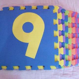 Number Puzzle Rubber Mat