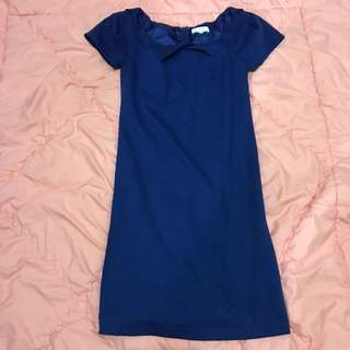 GAUDI Pencil Basic Dress - Electric Blue