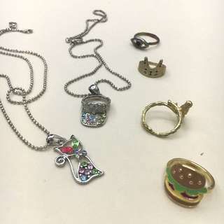 Necklaces & Rings From AUS & Korea