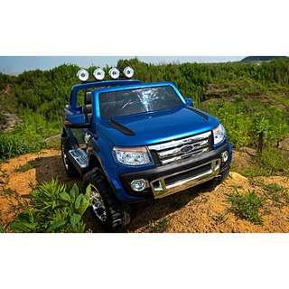 4motor Electric Children car Ford Ranger 4X4 Truck remote 12V  Metalic Blue