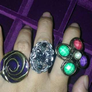 Vintage Rings Adjustable 3 For Rm10