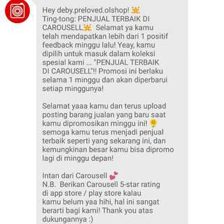 Thank you Carousell / Intan....