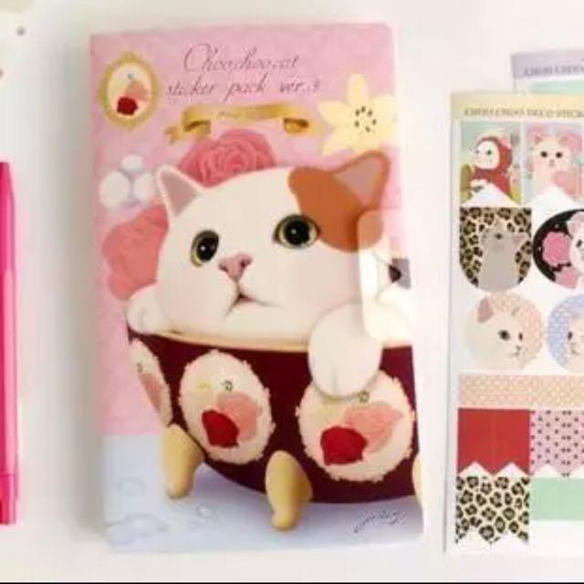 韓國貓咪貼紙套組A