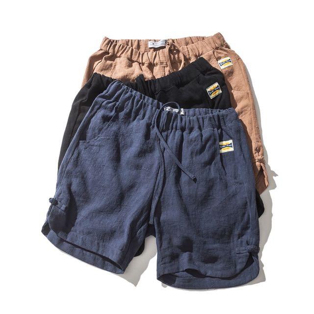 🎉(大尺寸)日系夏季麻棉五分褲