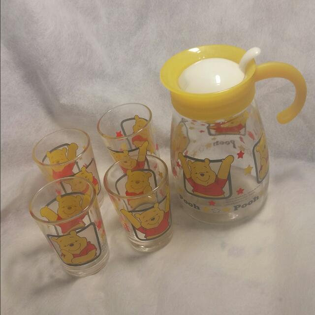 小熊維尼 玻璃杯 玻璃壺