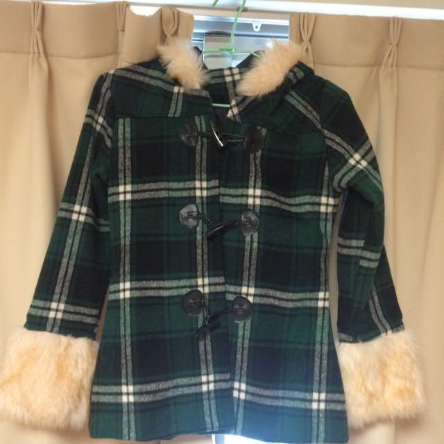 牛津扣 學院風 毛袖 外套