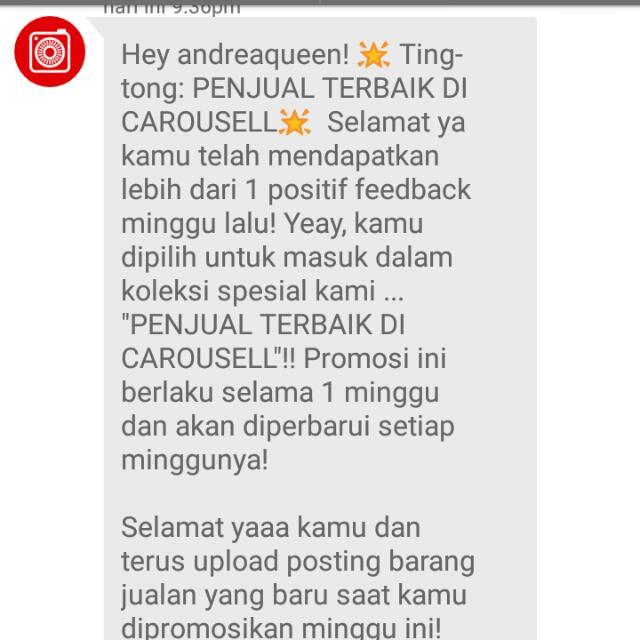 Alhamdulillah,, Tx Carousell,,
