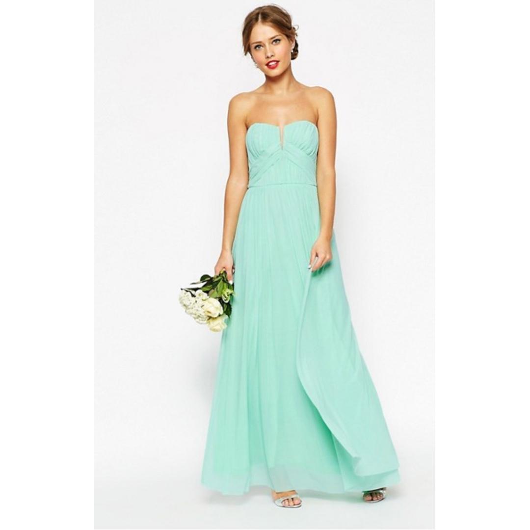 ASOS - WEDDING/ FORMAL Ruched Bodice Bandeau Maxi Dress