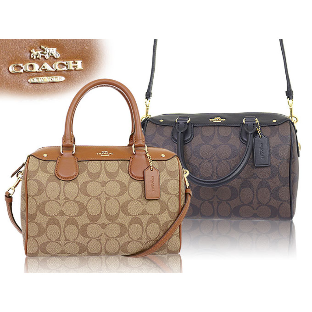 AUTHENTIC COACH F36702 MINI BENNETT SATCHEL IN SIGNATURE (Brown ... e36efc73159ff