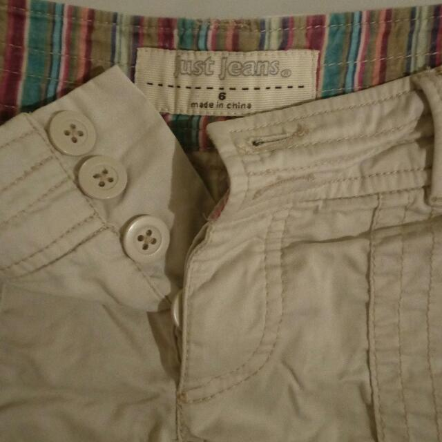 Beige Just Jeans Shorts Size 6