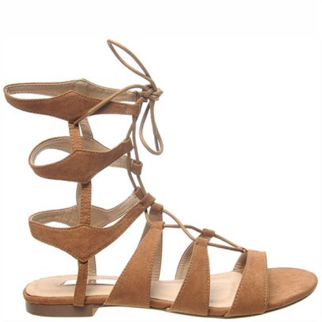 Billini Lace Up Wrap Sandals