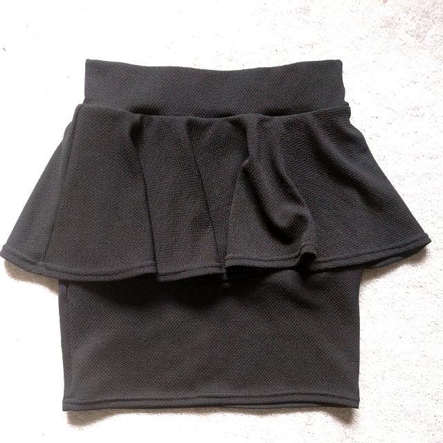 Black Peplum Mini Skirt Size S