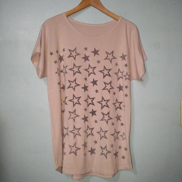 Black Stars Long Top