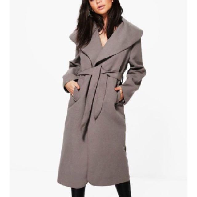 Boohoo Shawl Collar Coat