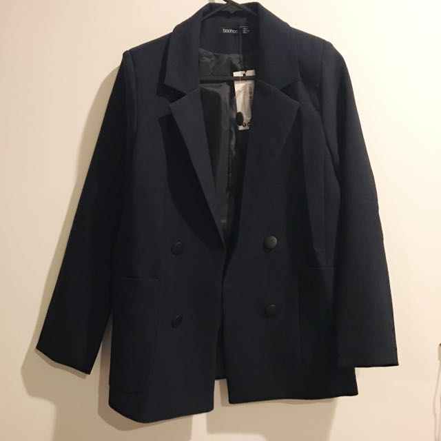 BRAND NEW DOUBLE BREASTED NAVY BLAZER