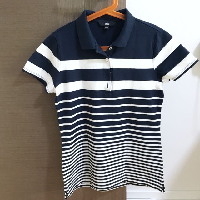 ce960768d7 SALE! BRAND NEW Uniqlo Polo Shirt in Navy/White Stripes, Women's ...