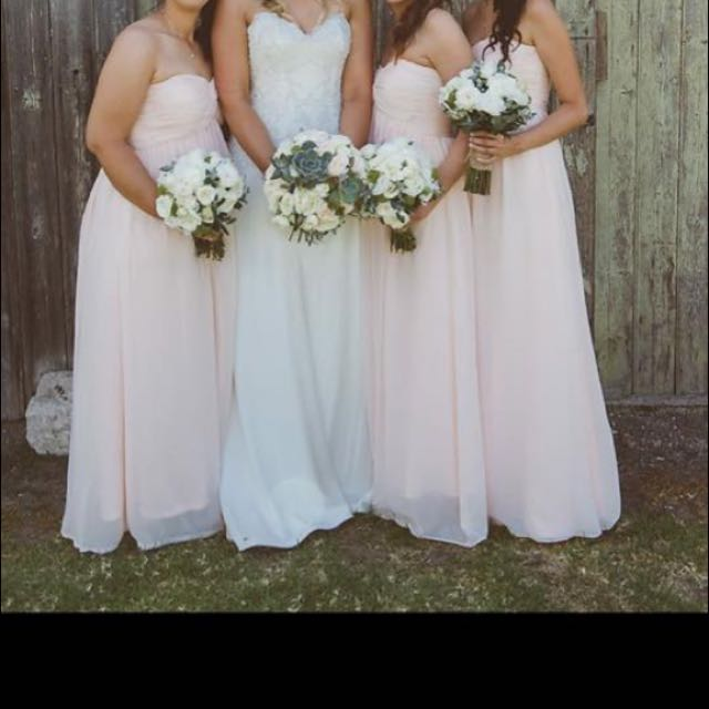 Bridesmaid Strapless Chiffon Dresses