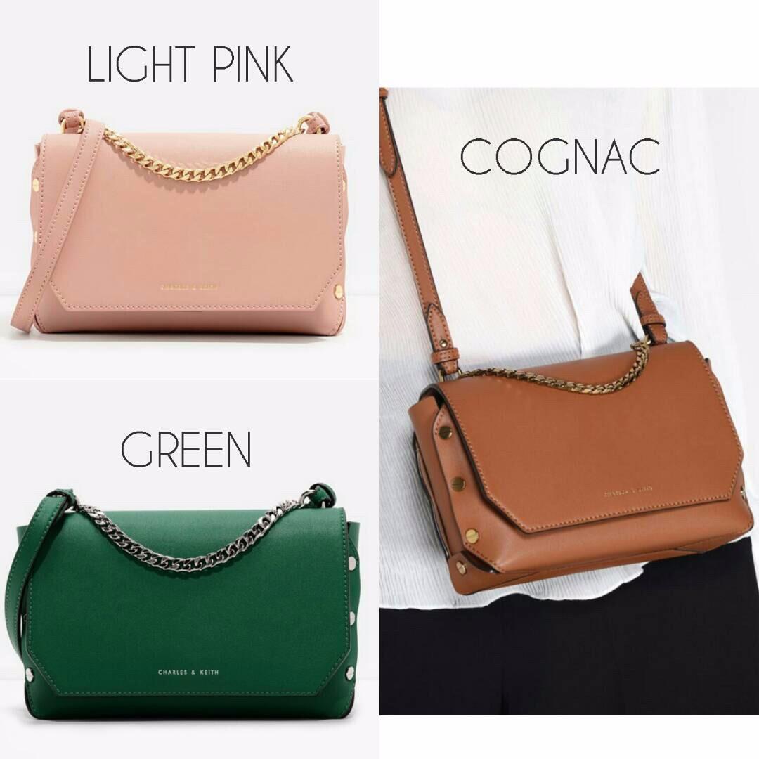 C K Push-Lock Shoulder Bag