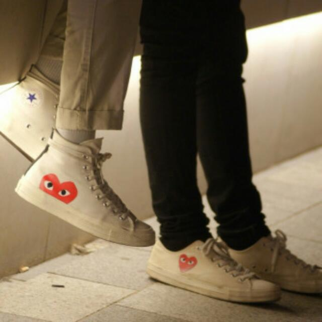 Comme Des Garcons CDG X Converse High Tops Luxury Accessories On