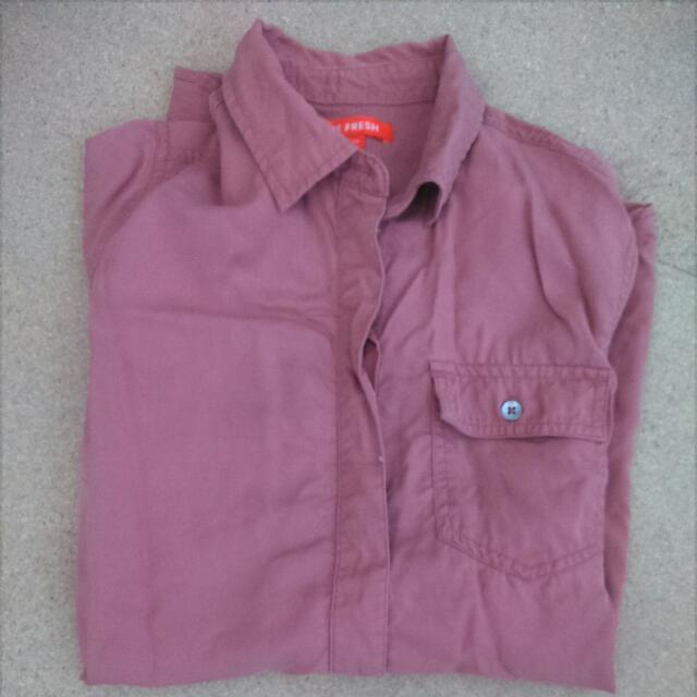 *REDUCED* Coral Button Up