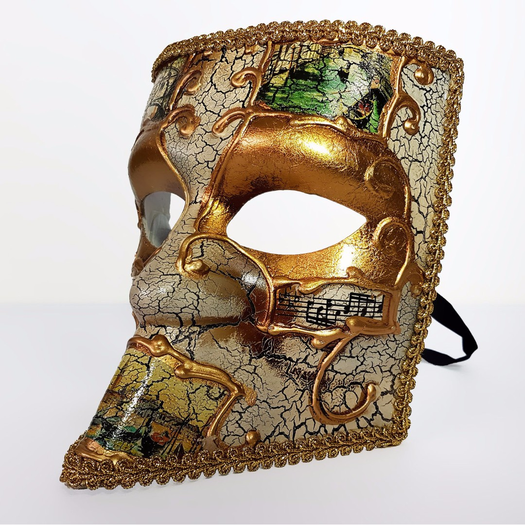 Detailed Venetian Mask Full Face High Quality Male Masquerade Mask
