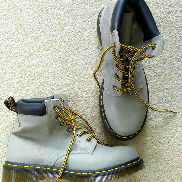 Dr. Martens Concrete Grey Boots