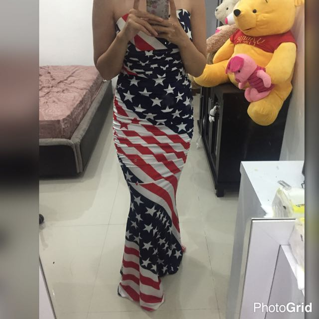 Dress Bendera Amerika