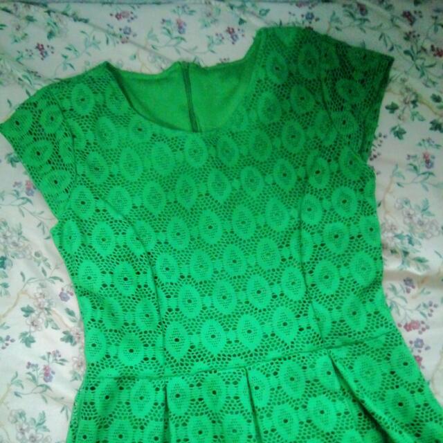 Emerald Green Lacey Dress