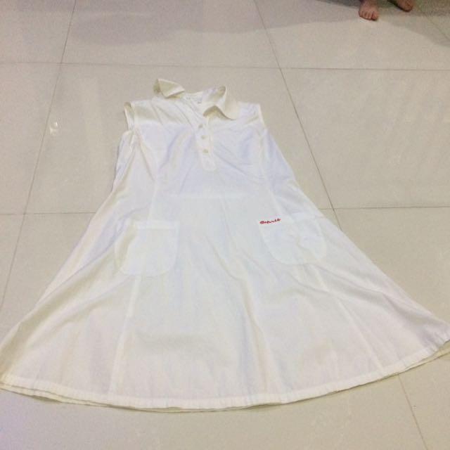 Esprit White Classic Dress