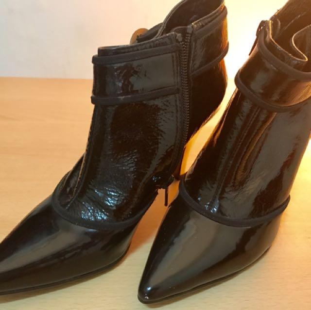 全新專櫃fed牛皮踝靴