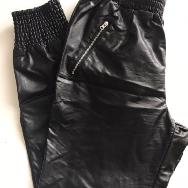Forever21 Black Leather Pants
