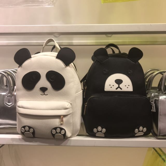 Forever 21 Black Bear Backpack