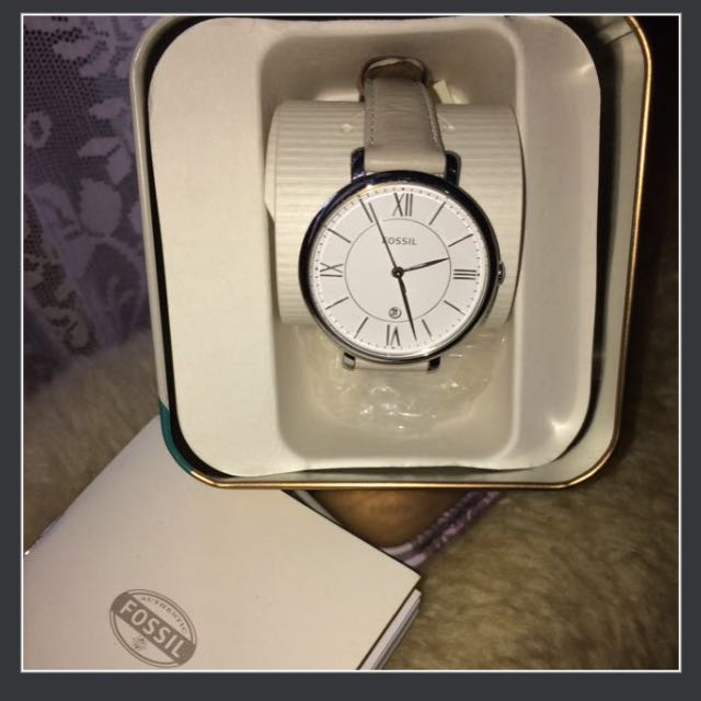 Fossil Women's ES3793 Jacquelien Stainless Steel w/ Leather band (original)
