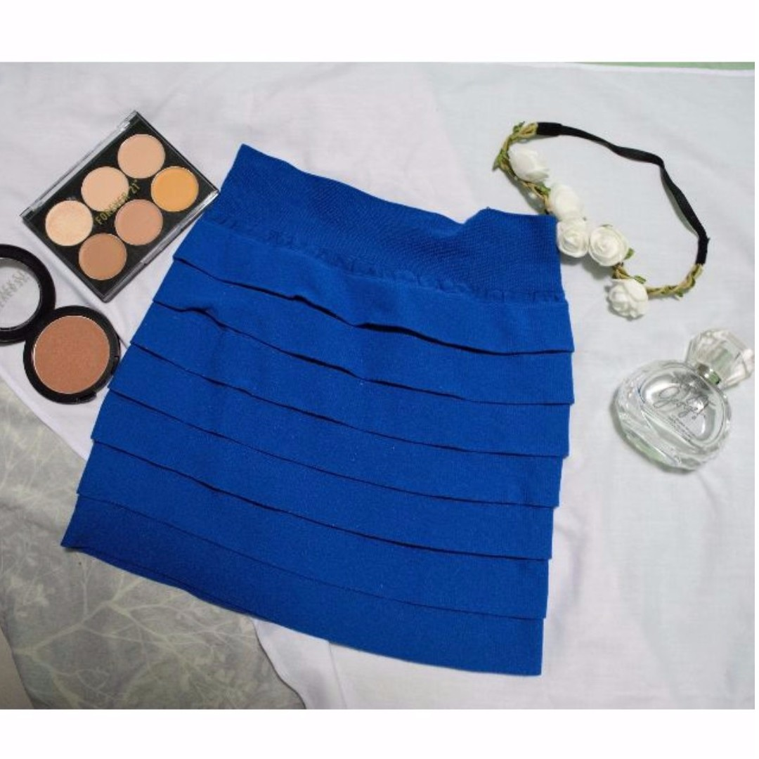 #GIVEAWAY2.0 (Blue Bandage Skirt)