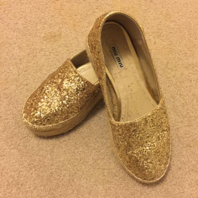 Golden Bling Bling Shoes