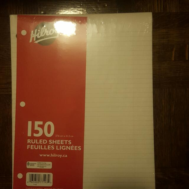 Hilroy 150 Lined Paper