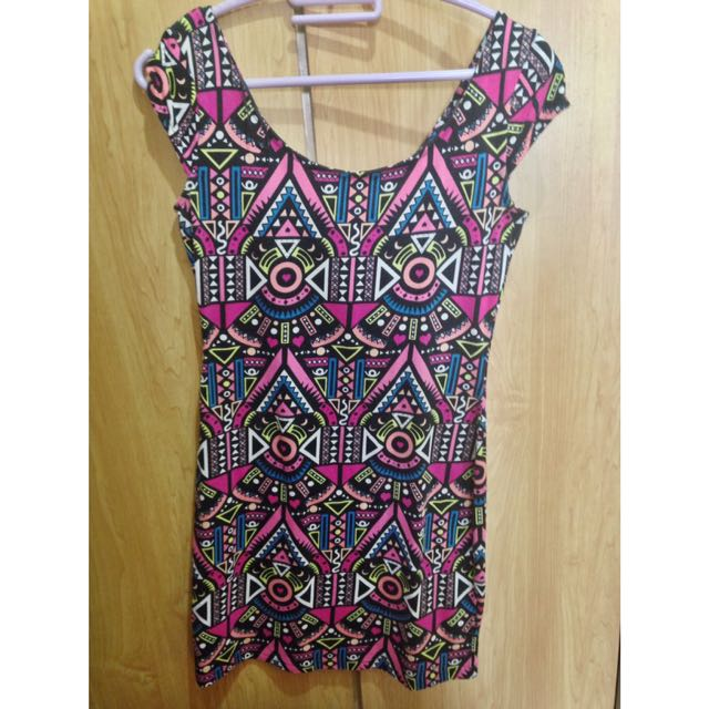 H&M Aztec Fitted Dress