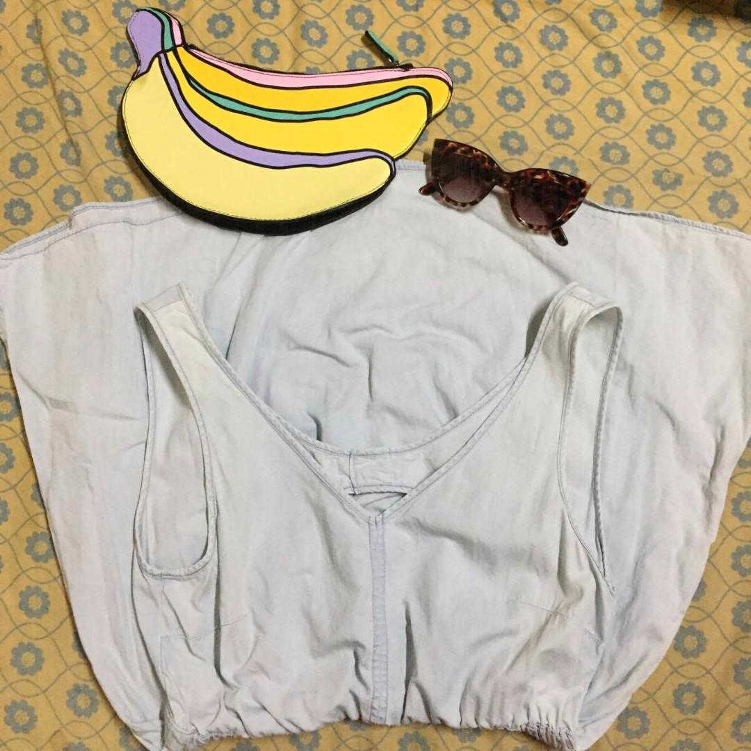 H&M Backless Denim Dress (AUTHENTIC)